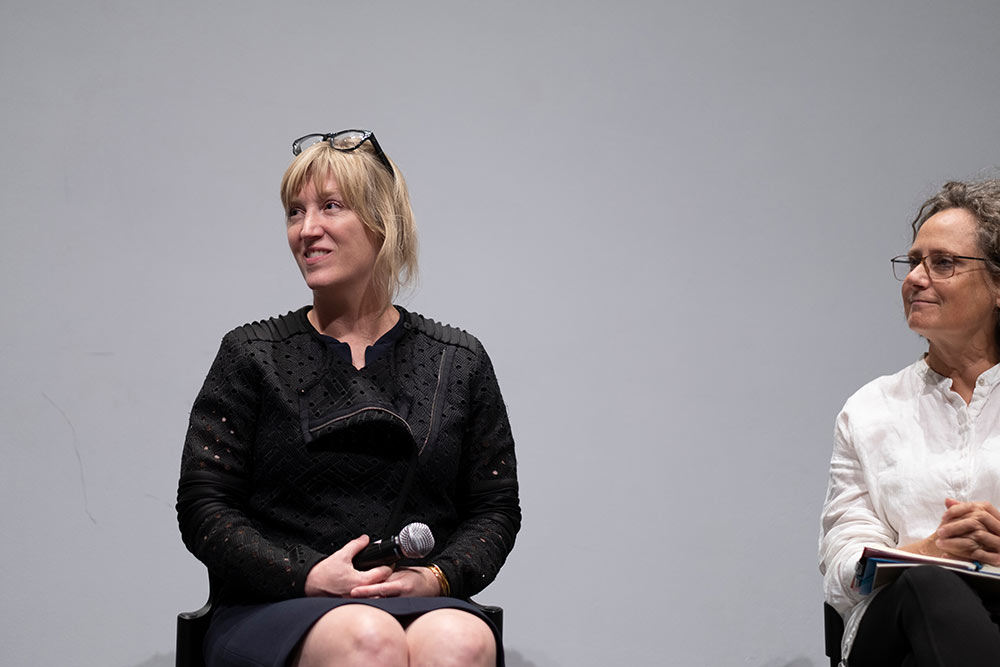 Kimberly Brown, seated, left and Shannon Criss, right.